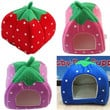 Hot Soft Strawberry Pet Dog Cat Bed House Kennel Doggy Warm Cushion Basket (please notice the detail size information so that you can choose a right house for your pet)
