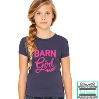 Barn Girl - Horse Lover - Horse Shirt - Equestrian - Girl's T-Shirt