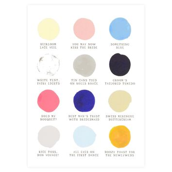 Wedding Color Palette Greeting Card