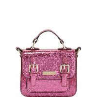 kate spade new york scout girls glittered crossbody bag, pink