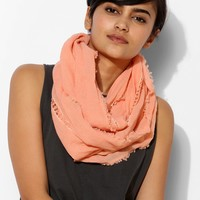 Crochet-Inset Eternity Scarf - Urban Outfitters