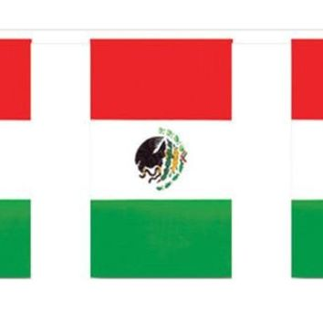 Outdoor Mexican Flag Banner for Halloween