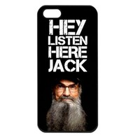 Duck Dynasty Hey listen here Jack iPhone 5 Case