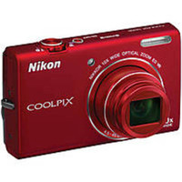 Nikon Coolpix 26275 S6200 16 Megapixels Digital Camera - 10xOptical Zoom/4x Digital Zoom - 2.7-inch Display - Red