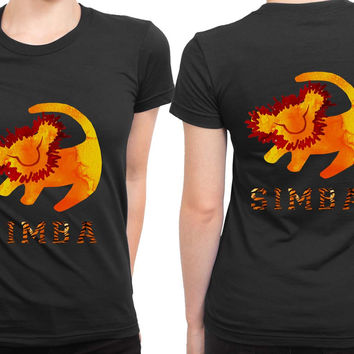Simba 2 Sided Womens T Shirt