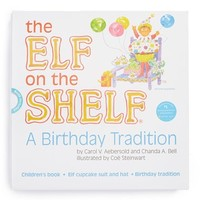 Infant Elf on the Shelf 'A Birthday Tradition' Book and Elf Cupcake Suit