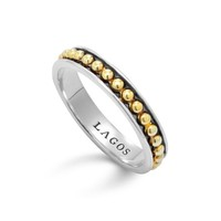 LAGOS 18K Gold and Sterling Silver Enso Stack Ring | Bloomingdales's