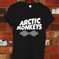 Hot Arctic Monkeys Premium Tour Logo Shirt Black or White Men Women T-shirt RF-13