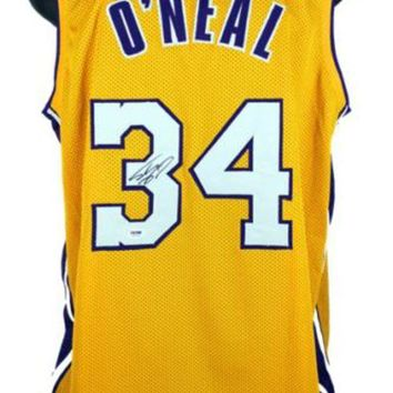 ESBONY Shaquille O'Neal Signed Autographed Los Angeles Lakers Basketball Jersey (PSA/DNA COA)