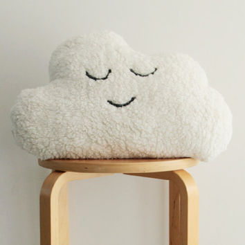 Fluffy Cloud Pillow, Nursery Decor, Stuffed Toy, Soft toy, Black and White Throw Pillow, Nursery, Woodland Nursery, Plush Toy, Cloud Pillow