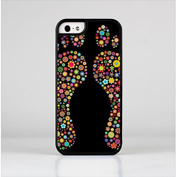 The Vector Floral Feet Icon Collage Skin-Sert for the Apple iPhone 5-5s Skin-Sert Case
