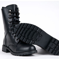 Hipster Classic Black Boots, British Style , Punk Boots , All Sizes
