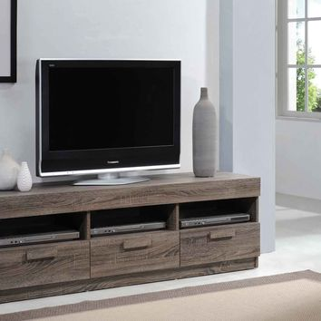 Amiable TV Stand, Rustic Oak Brown By ACME