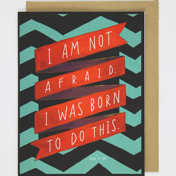 """""""Born To Do This"""" Card"""