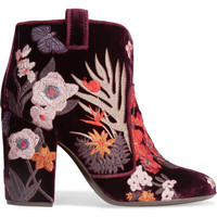 Laurence Dacade - Pete embroidered velvet ankle boots