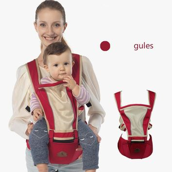Toddler Backpack class Breathable Baby Carrier Sling with Waist Stools Toddler Kangaroo Backpack Carrier Hipseat Baby Care Activity&Gear Product 0-36M AT_50_3