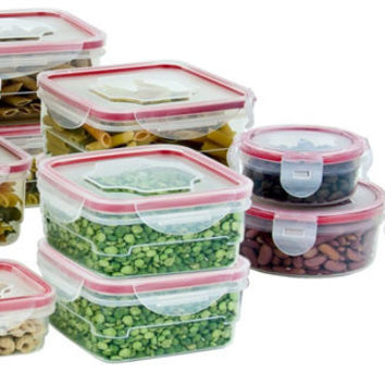 24 pc food container set with locking seal Case of 12