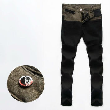 Mens Cool Two Color Jeans