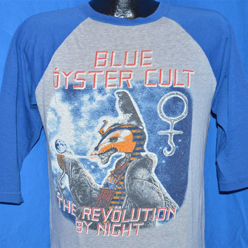 80s Blue Oyster Cult Revolution By Night North American Tour 1983-84 3/4 Sleeve Baseball Jersey t-shirt Medium