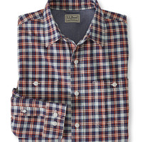 Men's Lakewashed Chambray Shirt, Slightly Fitted Plaid | Free Shipping at L.L.Bean