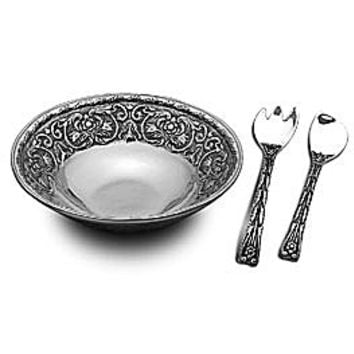 Wilton Armetale William & Mary 3-Piece Salad Set