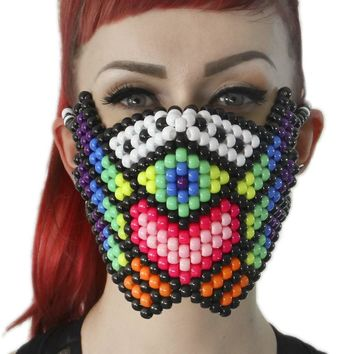 PLUR Warrior Kandi Mask