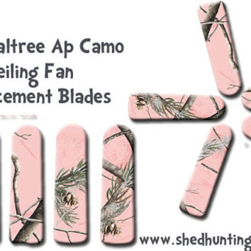 Pink Realtree Camo Ceiling Fan Blades // pink camo // camo decor