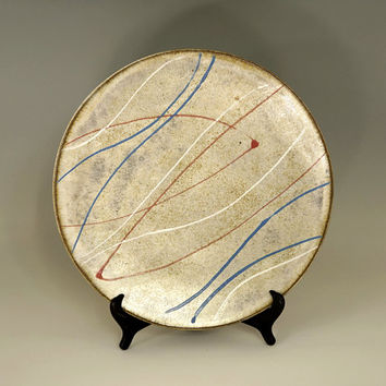 Ceramic platter, large platter, serving platter, handmade platter, stoneware, high fired