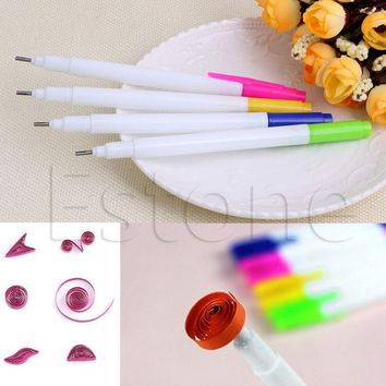 1PC Slotted Paper Quilling Tools Plastic Paper Roll Pen DIY Paper Craft New