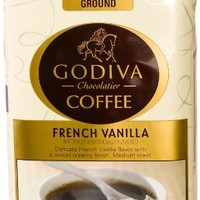 Godiva Coffee, French Vanilla, 12-Ounce (Pack of 2)