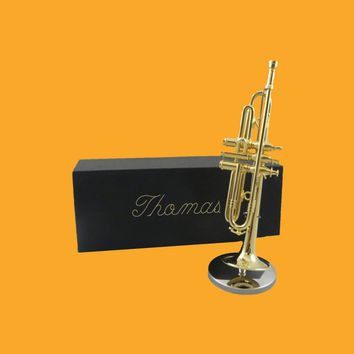 Miniature Trumpet - Personalized music gift - (GTR20)