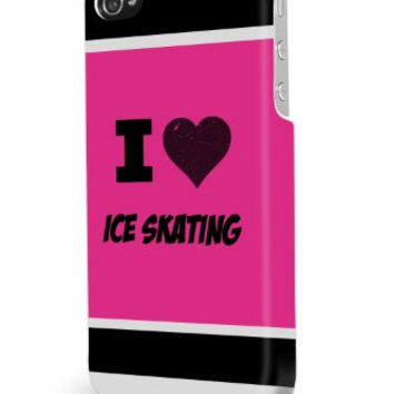 Ice Skating Pink iPhone 5/5S Case - For iPhone 5/5S - Designer TPU Case Verizon AT&T Sprint