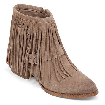BCBGeneration Capricorn Fringe Booties | Dillards