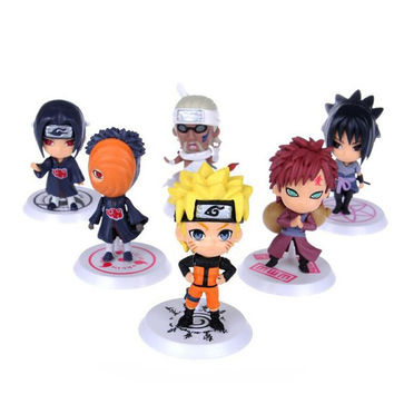 6Pcs/Set anime  Naruto sasuke Figure Set Figurine PVC Toy Action Figure Japanese anime  7cm Classic Toys 12 styles