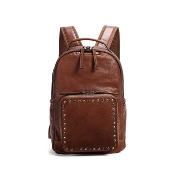 Soul Stud Leather Backpack - Old Trend