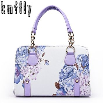 Women Classic chains tote bags print bag for lady's bolsas feminina famous designer brand shoulder bags women leather handbags