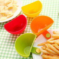 Hot sale 1Pcs Dip Clips Kitchen Bowl kit Tool Small Dishes Spice Clip For Tomato Sauce Salt Vinegar Sugar Flavor Spices