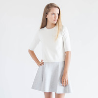 Alix Zip Back Sweater (Ivory)