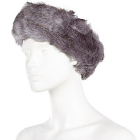 River Island Womens Grey faux fur head band