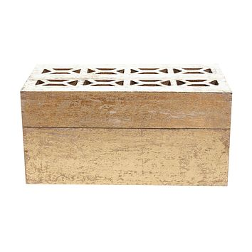 Large Gold Mango Wood Box