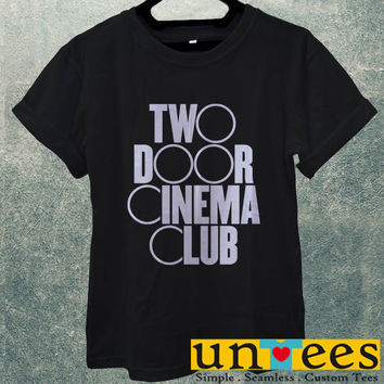 Low Price Men's Adult T-Shirt - Two Door Cinema Club Logo design