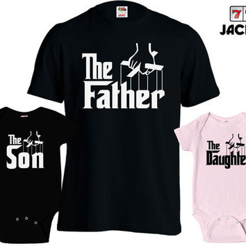 Matching Father Son Shirts Fathers Day T Shirt Daughter Son Baby Bodysuit Matching Family Shirts First Fathers Day Men's Todder Tee MD-430B