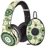 Swirls Yellow Skin  for the Beats Studio Headphones & Case by skinzy.com
