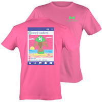 Simply Southern Preppy Day at the Beach Pink T-Shirt