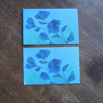 Vintage Floral Note Cards and/or Quality Stock Writing Paper w/ Birds, Lattice Cut Outs; Raw Edges; U.S. Shipping Included
