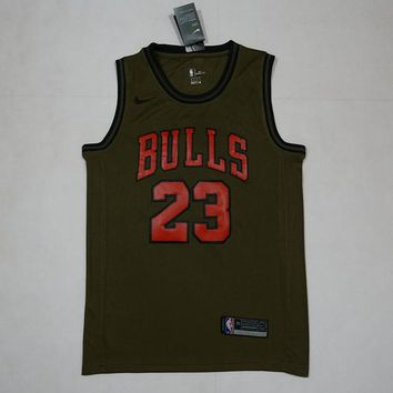 Chicago Bulls #23 Michael Jordan NBA Salute To Service Jerseys - Best Deal Online