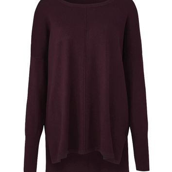 Black Cherry Boxy Sweater