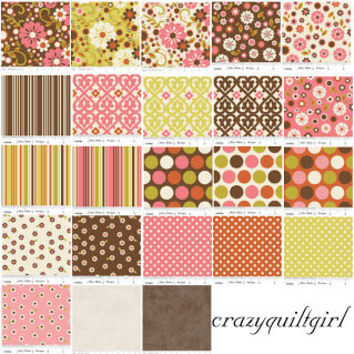 Pre cut Rolie Polie, Jelly Roll of Indian Summer by Riley Blake Designs, 2.5 inch strips of 23 different fabrics, Cotton Quilting Fabric