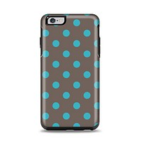 The Gray & Blue Polka Dot Apple iPhone 6 Plus Otterbox Symmetry Case Skin Set