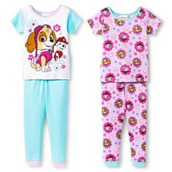 Toddler Girls' Paw Patrol 4Pc Sleepwear Set - Multi : Target
